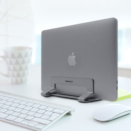 "Macally Vertical laptop stand for Laptop 13""-17"" - Space Gray"