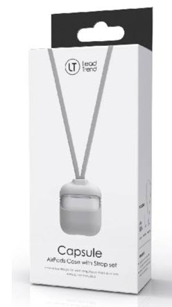Lead Trend Airpods Case with Wrist & Neck Strap, White