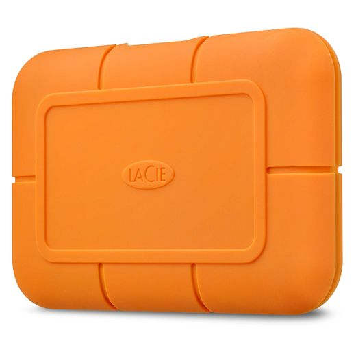 "LaCie Rugged SSD 500GB 2.5"" IP54 USB 3.1 Type C w/integrated cable"