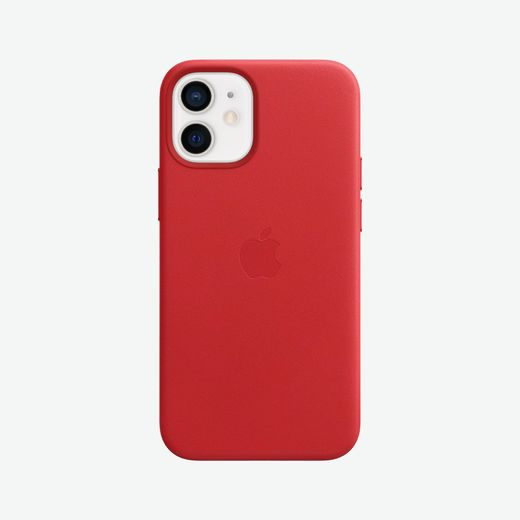 Apple iPhone 12 mini Leather Case with MagSafe - (PRODUCT)RED