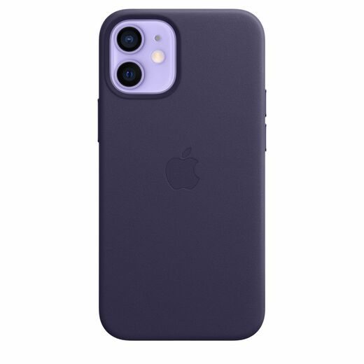 Apple iPhone 12 mini Leather Case  MagSafe - Deep Violet
