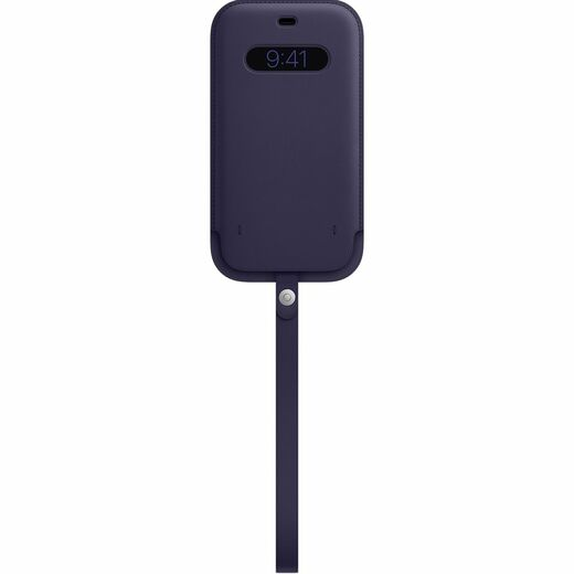 Apple iPhone 12 Pro Max Leather Sleeve  MagSafe - Deep Violet