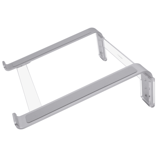 "Macally Adjustable aluminum laptop stand for laptops between 10"" to 17"", Silver"