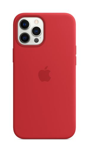 Apple iPhone 12 Pro Max Silicone Case with MagSafe - (PRODUCT)RED