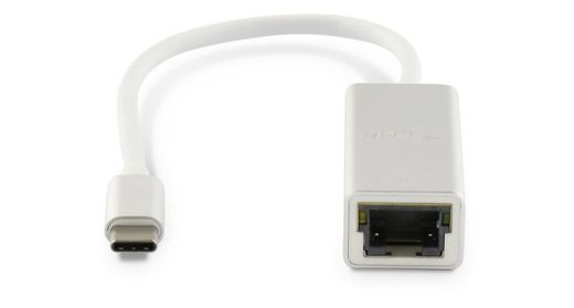 LMP USB-C to Gigabit Ethernet Adapter 15cm, Silver